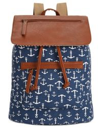Madden Girl | Blue Bposted Backpack | Lyst