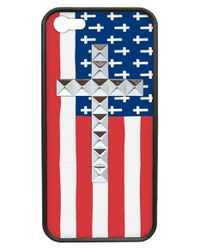 Wildflower | Red 'american Flag Studded Cross' Iphone 5 & 5s Case | Lyst
