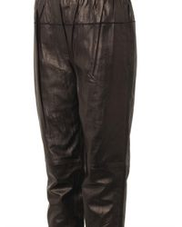 3.1 Phillip Lim - Black Nappa Leather Track Pants - Lyst
