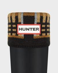 HUNTER - Multicolor Knitted Tartan Socks - Lyst