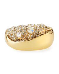 Alexis Bittar | Metallic Crystal Cluster Large Hinge Bracelet | Lyst