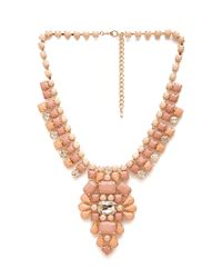 Forever 21 - Orange Bejeweled Faux Stone Necklace - Lyst