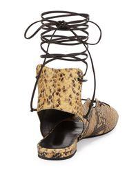 Saint Laurent Multicolor Python-Print Gladiator Sandals