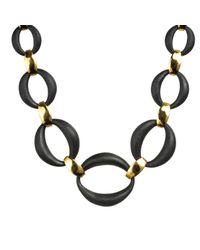 Alexis Bittar - Black Link Necklace - Lyst