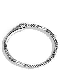 David Yurman Metallic Labyrinth Single - Loop Bracelet With Diamonds