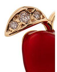 Alison Lou - Red Diamond, Enamel & Yellow-Gold Earring - Lyst
