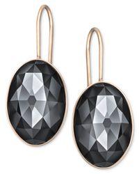 Swarovski | Gray Rose Gold-Tone Jet Hematite Oval Crystal Drop Earrings | Lyst