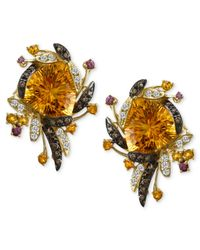 Le Vian | Metallic Chocolate Diamonds (1/3 Ct. Citrine (20-1/4 Ct. Garnet (1/4 Ct. T.W.) And White Topaz (3/8 Ct. T.W.) In 14K Gold | Lyst