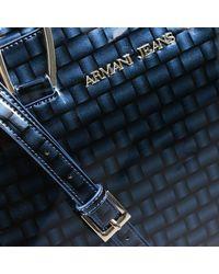 Giorgio Armani - Blue Borsa Le Sac 11 Bauletto Piccolo Pelle Martellata - Lyst