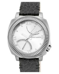 Vince Camuto | Metallic Multifunction Leather Strap Watch for Men | Lyst