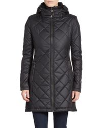 Saks Fifth Avenue | Black Diamond Quilted Parka | Lyst