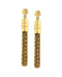 Vince Camuto - Metallic Gold-tone Chain Tassel Drop Earrings - Lyst