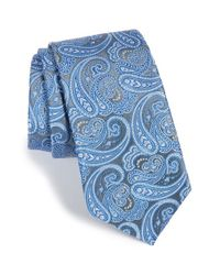 Calibrate | Blue Paisley Silk Tie for Men | Lyst