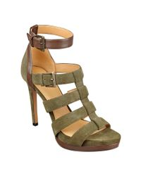 Nine West - Green Benteena Ankle Strap Sandals - Lyst