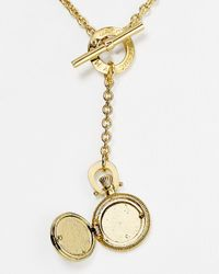 Marc By Marc Jacobs Metallic Vintage Locket Pendant Necklace 18