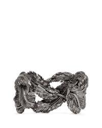 Valentino | Gray Feather Cuff | Lyst