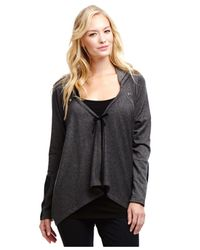 Jessica Simpson - Gray Maternity Tie-Front Hoodie - Lyst