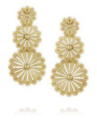 Finds - Metallic + Joyas Fio Gold-Plated Filigree Earrings - Lyst