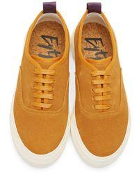 Eytys | Orange Camel Suede Mother Sneakers | Lyst