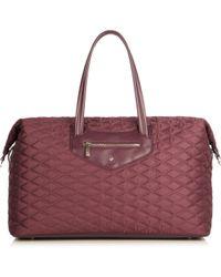 Knomo Purple Huntley Aubergine Weekend Bag