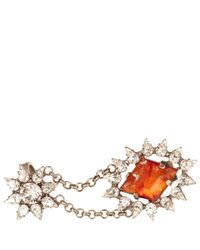 DANNIJO - Red Crystal Nicola Double Ring - Lyst
