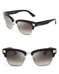 Valentino - Black Rockstud Clubmaster Sunglasses for Men - Lyst