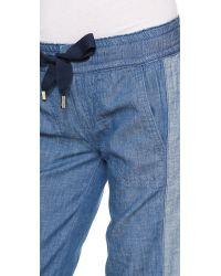 Tory Burch | Blue Allegra Ribbon Pants  | Lyst