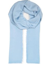 Loewe - Blue Anagram Jacquard Scarf - Lyst