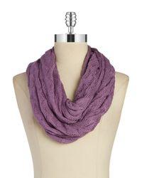 Echo - Purple Knit Infiniti Scarf - Lyst