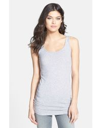 Splendid | Gray Scoop Neck Stretch Tank | Lyst