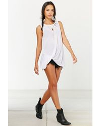 Project Social T | White Side-tuck Muscle Tee | Lyst