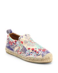 Marc By Marc Jacobs | Multicolor Floral print Leather Espadrille Flats | Lyst