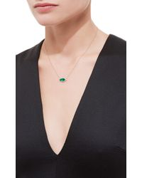 Jacquie Aiche | Green Full Pave Small Emerald Marquise Necklace | Lyst