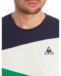 Le Coq Sportif | Green Tricolores Soulor Short Sleeve T-shirt for Men | Lyst