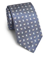 Saks Fifth Avenue   Blue Paisley Print Silk Tie for Men   Lyst