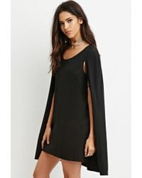 Forever 21 - Black Layered Cape Dress - Lyst