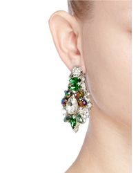 Assad Mounser | Multicolor 'aludra' Swarovski Crystal Earrings | Lyst