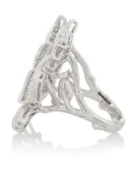Stephen Webster - Metallic Fly By Night 18-Karat White Gold Diamond Ring - Lyst