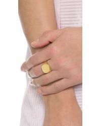 Lulu Frost Metallic Signet Ring - Gold