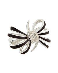 Stephen Webster - Metallic Fourloop Burgundy Diamond Bow Ring Size 7 - Lyst