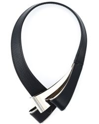 Marni - Black Structured Loop Necklace - Lyst