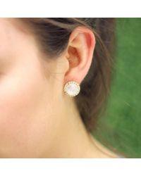 Irene Neuwirth - White Rainbow Moonstone Earrings - Lyst