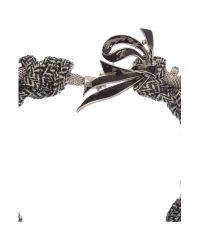 Max Mara - Metallic Orlanda Knot Necklace - Lyst