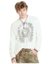 Denim & Supply Ralph Lauren   White Waffle-knit Cotton Graphic T-shirt for Men   Lyst