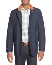 Bugatchi | Blue Zip Front Jacket for Men | Lyst