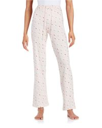 Lord & Taylor | Pink Printed Sleep Pants | Lyst