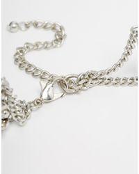 ASOS - Metallic Disco Choker Necklace - Lyst