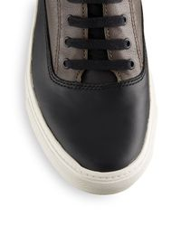 Vince - Black Newman Leather High-top Sneakers for Men - Lyst