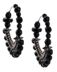 Givenchy | Black Faceted Bead Statement Earrings | Lyst
