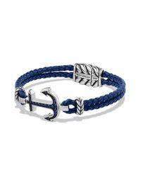 David Yurman | Blue PavÉ Anchor Bracelet for Men | Lyst